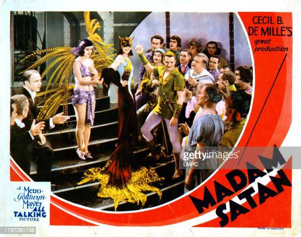 Madam Satan lobbycard from left Roland Young Lillian Roth Kay Johnson Tyler Brooke Reginald Denny Wilfred Lucas 1930