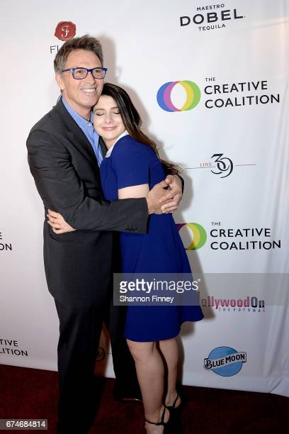 Madam Secretary cast members Tim Daly and Kathrine Herzer on the red carpet at the Creative Coalition's Right To Bear Arts Gala at Flavio on April 28...
