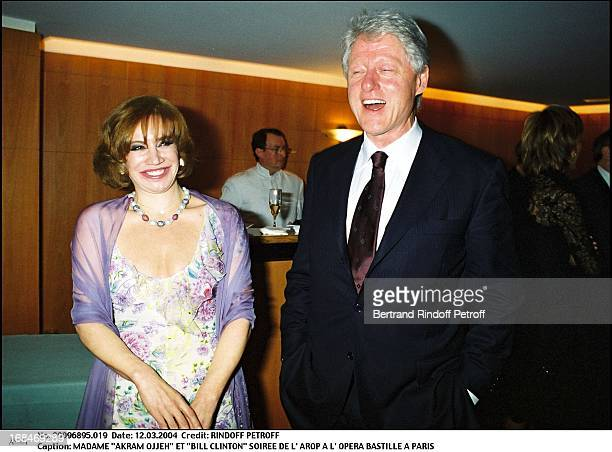 Madame 'Akram Ojjeh' and 'Bill Clinton' at L'Arop Gala At L'Opera Bastille In Paris