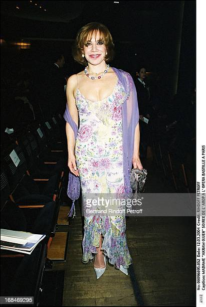 Madame 'Akram Ojjeh' at L'Arop Gala At L'Opera Bastille In Paris