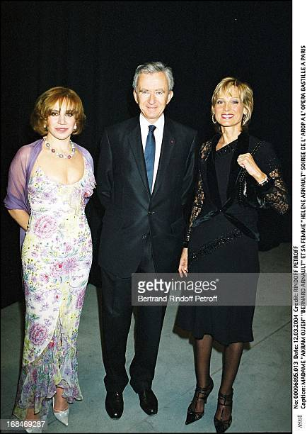 Madame 'Akram Ojjeh' 'Bernard Arnault' and wife 'Helene Arnault' at L'Arop Gala At L'Opera Bastille In Paris