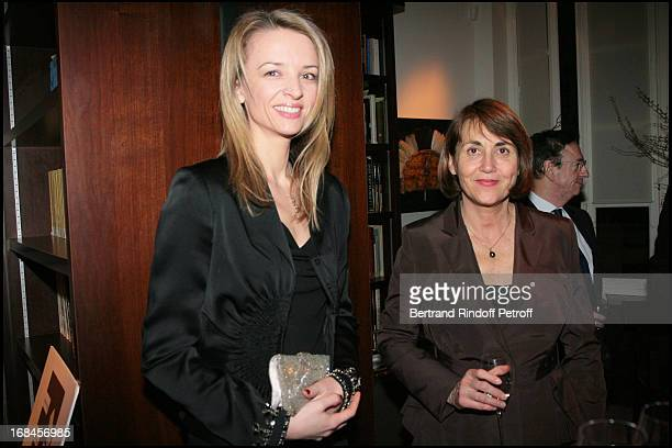 Madame Alessandro Vallarino Gancia and Christine Albanel at Gala Opening Evening At The Christian Deydier Art Exhibition In Paris