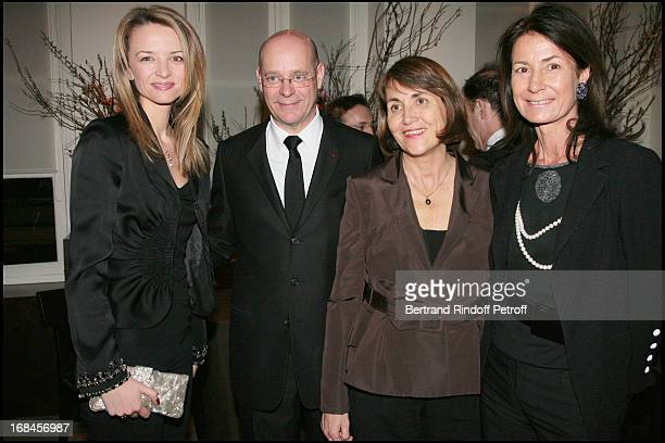 Madame Alessandro Vallarino Gancia Christian Deydier Christine Albanel and Madame Thierry Breton at Gala Opening Evening At The Christian Deydier Art...