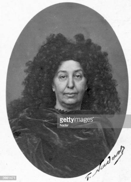 Madame Amandine Aurore Lucie Dupin Baronne Dudevant French novelist who worked under the pseudonym George Sand Original ArtworkPhoto by Nadar Paris