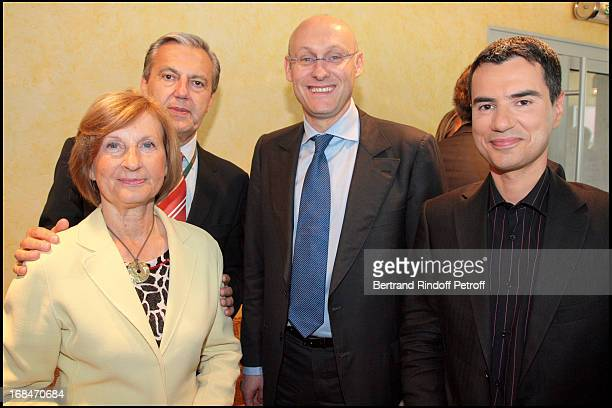 Madame Amaury Daniel Billalian Bernard Laporte and Laurent Luyat at The Roland Garros Tournament 5th June 2008