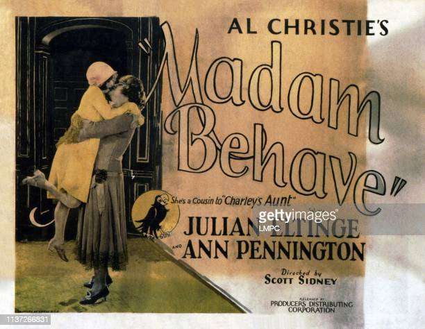 Madame Behave US lobbycard from left Ann Pennington Julian Eltinge 1925