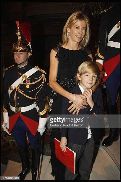 Madame Brice Hortefeux and child Amaury at The Gala Evening Celebrating The 35th Anniversary Of L'Arop At L'Opera Garnier In Paris