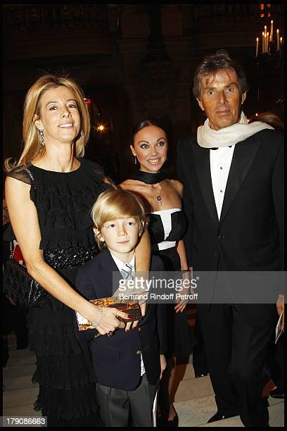 Madame Brice Hortefeux and child Amaury Dominique Desseigne and Alexandra Cardinale at The Gala Evening Celebrating The 35th Anniversary Of L'Arop At...