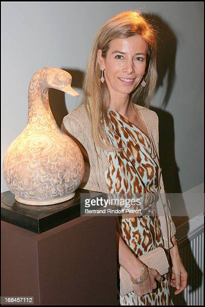 Madame Brice Hortefeux at Gala Opening Evening At The Christian Deydier Art Exhibition In Paris