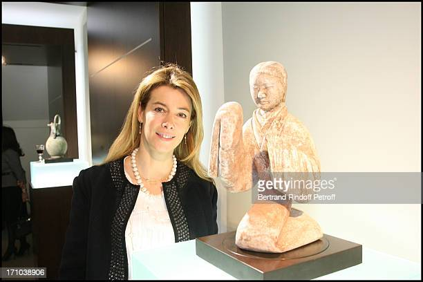 Madame Brice Hortefeux at Private View Of The ExhibitionTreasors From Ancient China At The Gallerie De Christian Deydier In Paris