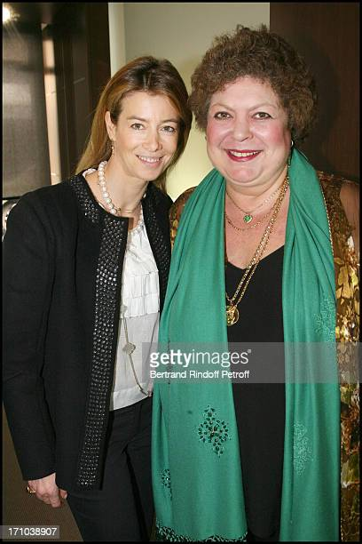 Madame Brice Hortefeux Brigitte Enguerer at Private View Of The ExhibitionTreasors From Ancient China At The Gallerie De Christian Deydier In Paris