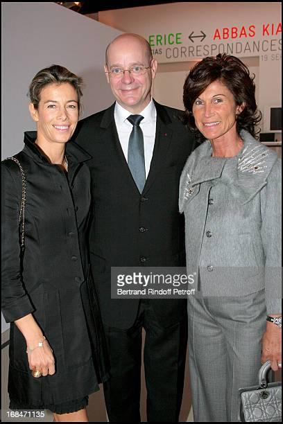 Madame Brice Hortefeux, Christian Deydier Et Sylvie Rousseau at Preview of L'Atelier D'Alberto Giacometti At Centre Pompidou In Paris.
