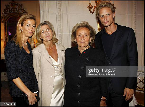 Madame Brice Hortefeux Claire Chazal Bernardette Chirac Arnaud Lemaire at Gala Evening For The 40th Anniversary Of The Claude Pompidou Foundation