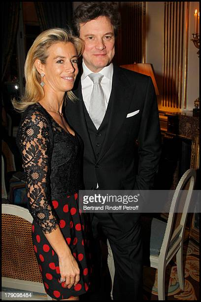 Madame Brice Hortefeux Colin Firth at The Paris Premiere Of Le Discours D'Un Roi At Ugc Normandie Followed By A Reception At The British Embassy