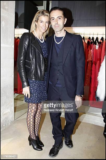 """Madame Brice Hortefeux """"Valerie"""", Giambattista Valli at The Opening Evening Of The Giambattista Valli Boutique In Paris."""