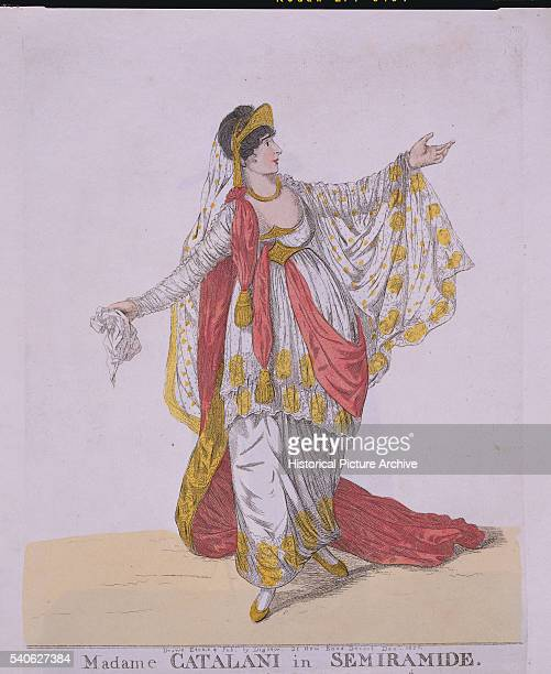 'Madame Catalani Singing the Title Role of Semiramide 1806 by R Dighton '