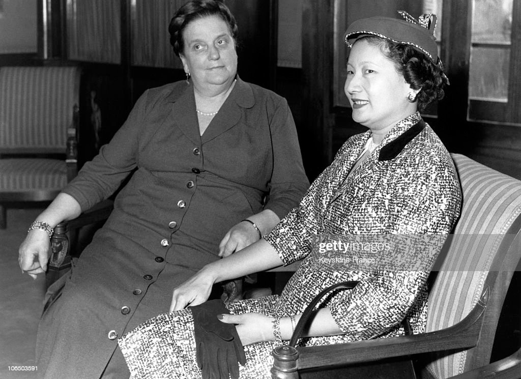 Wives Coty And Bao Dai 1954 : Nieuwsfoto's