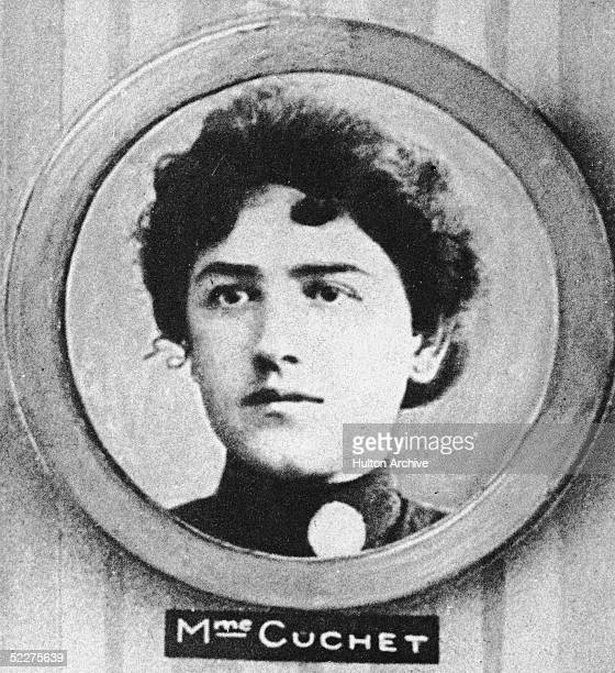 Madame Cuchet pictured circa 1914 With her son Andre she was the first victim of French serial killer Henri Desire Landru known as the French...