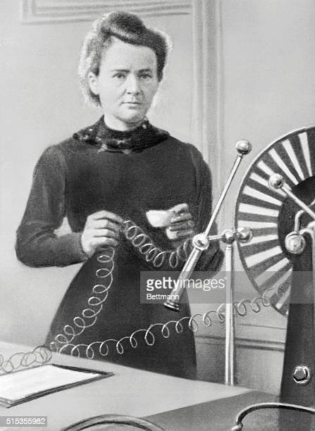 Madame Curie experimenting at the University of Paris