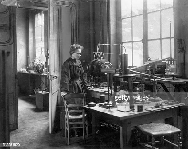 Madame Curie in her laboratory ca 1905 From a rare photograph