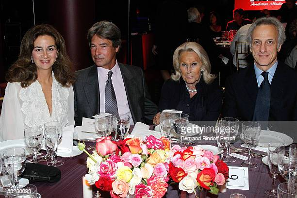 Madame Cyrille Niedzielski Francois Rochas Micheline Maus and François de Ricqles attend the Foundation Martine Aublet Gala Dinner at Musee du Quai...