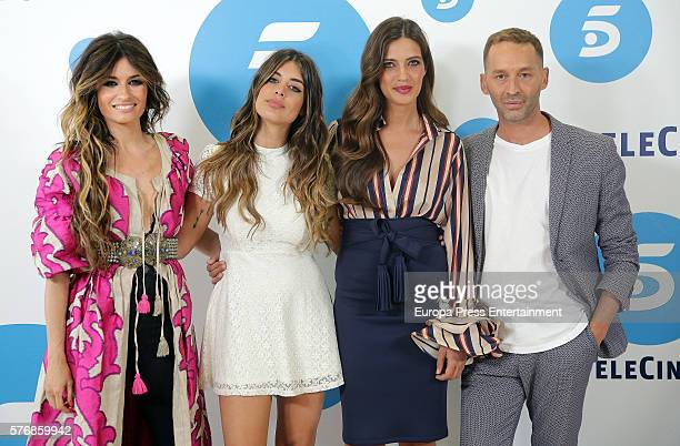 Madame de Rosa Dulceida Sara Carbonero and Cristo Banez present 'Quiero Ser' Tv show at Telecinco on July 18 2016 in Madrid Spain