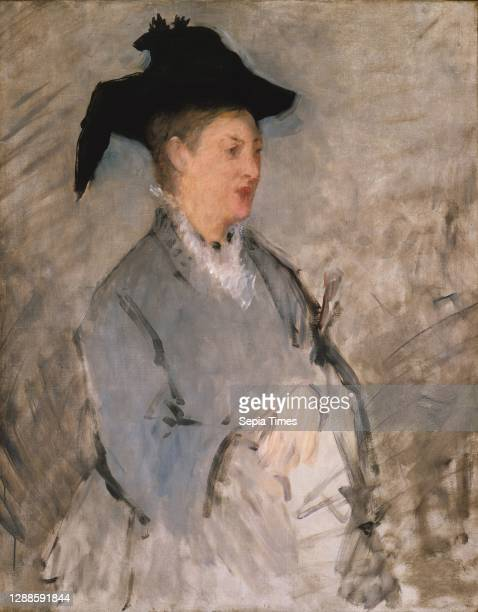 Madame edouard Manet , ca. 1873, Oil on canvas, 39 1/2 x 30 7/8 in. , Paintings, edouard Manet , Manet undertook only six portraits of his wife, the...