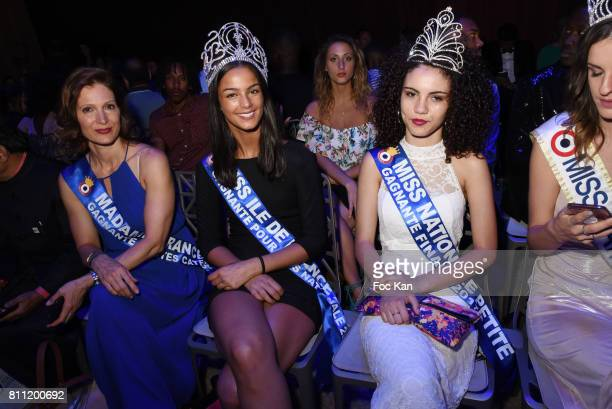 """Madame France 2016 Marie Legault and Misses Nationale 2017 attend the """"Paris Appreciation Awards 2017"""" At The Eiffel Tower on July 8, 2017 in Paris,..."""
