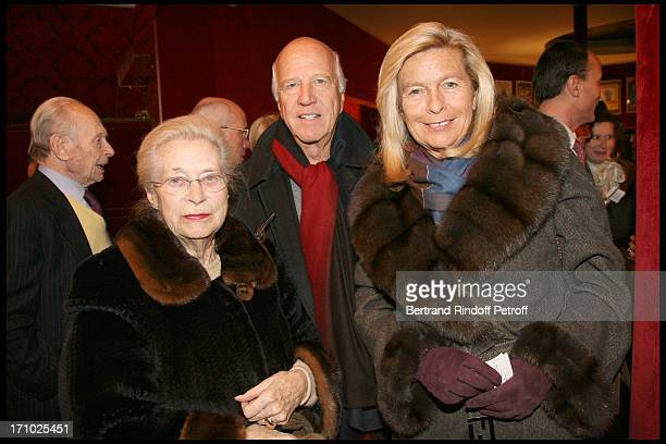 Madame Francis Bouygues Sergio Gobbi and wife Corinne Bouygues at The Paris Production Of The Show Une Comedie Romantique At The Theatre Montparnasse...