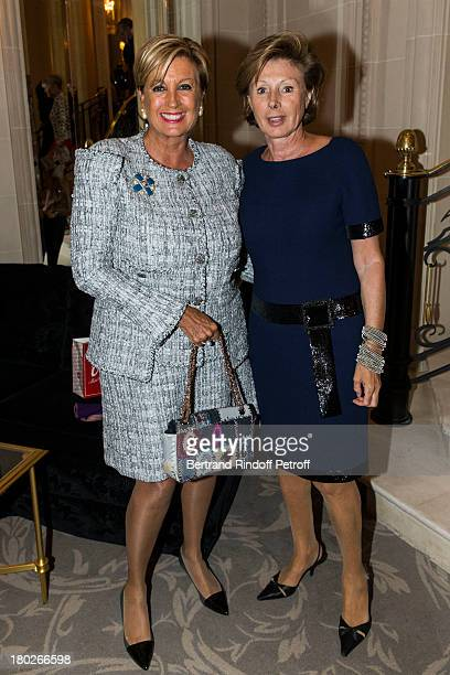 Madame Gerard Wertheimer and MarieLouise de Clermont Tonnerre attend a charity dinner hosted by the Claude Pompidou foundation at Four Seasons Hotel...