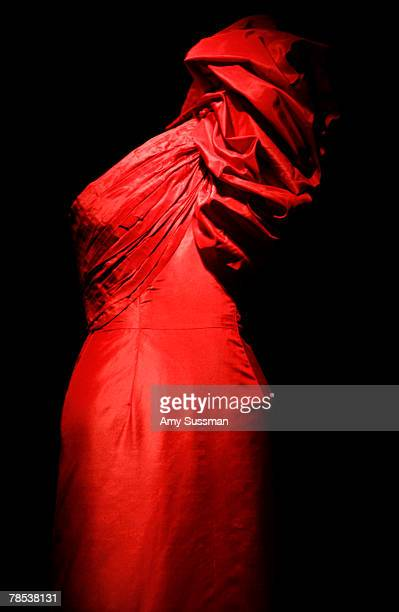 Madame Gres evening gown French 19031993 is displayed at the Blogmode addressing fashion exhibit at the Metropolitan Museum of Art's Costume...