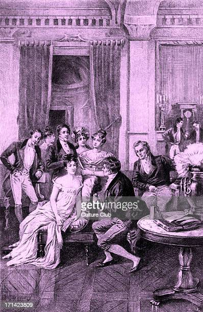 Madame Juliette Recamier's Surrounded by literary and political figures Charles Rodier Chateaubriand Sophie Gay Benjamin Constant Mme Ancelot Mme de...
