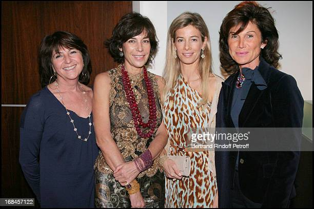 Madame Laurent Dassault Christine Orban Madame Brice Hortefeux and Sylvie Rousseau at Gala Opening Evening At The Christian Deydier Art Exhibition In...