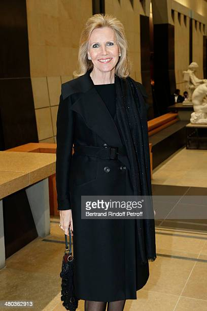 Madame Martin Bouygues Melissa Bouygues attends the dinner party of the Societe Des Amis Du Musee D'Orsay at Musee d'Orsay on March 24 2014 in Paris...