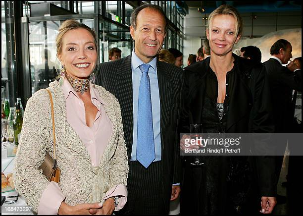 Madame Olivier Dassault Princess Helene De Yougoslavie and Thierry Gaubert at Claude Roland Receives The Chevalier Legion Of Honour From Philippe...
