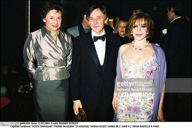 Madame 'Peter Townsend' 'Pierre Passebon' and Madame 'Akram Ojjeh' at L'Arop Gala At L'Opera Bastille In Paris