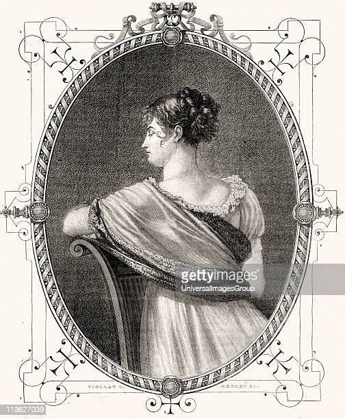 Madame Recamier Jeanne Francoise Julie Adelaide Bernard Mme Recamier aka Juliette Celebrated French beautyEngraved by Hebert after E ViollatFrom...