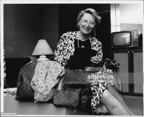 Madamme Recanier grad daughter of French luggage designer Louis VoiltanPhotographed with some luggage at Regent HotelWhen the King of Morocco...