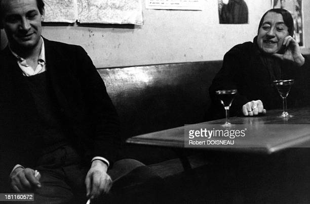 Madame Rita in a cafe of the Montagne SainteGenevieve street on February 15 1954 in Paris France