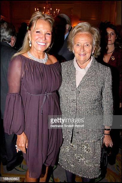 Madame Roland Pozzo Di Borgo and Bernadette Chirac at Premiere Of Film 'Faubourg 36' At Ugc Normandie In Benefit Of Claude Pompidou Foundation