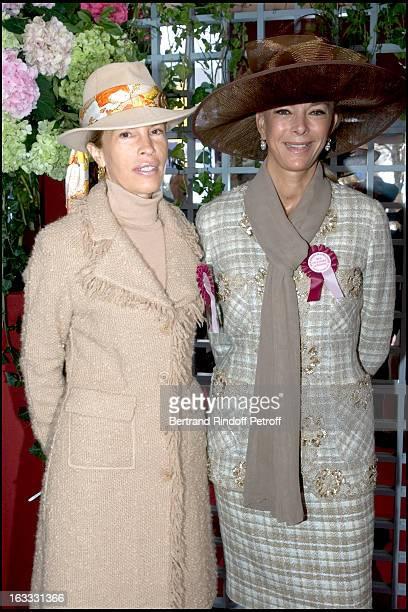 Madame Sabouret and Marie Claude Parnaud at The 84th Prix De L' Arc De Triomphe In 2005 At The L' Hippodrome De Longchamp In Paris