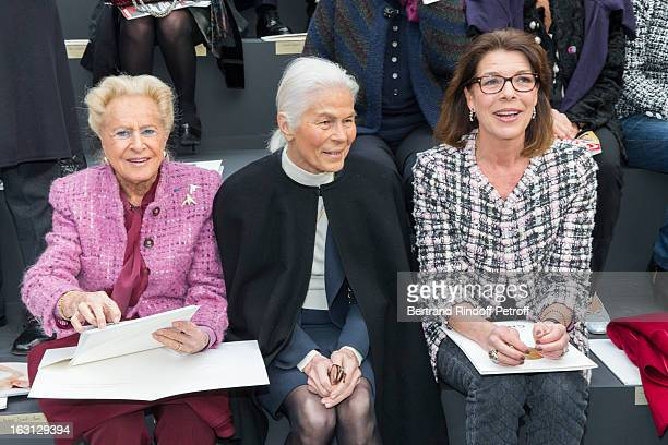 Madame Serge Dassault Micheline Chaban Delmas and Princess Caroline of Hanover attend the Chanel Fall/Winter 2013 ReadytoWear show as part of Paris...