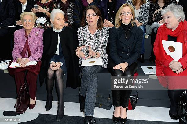 Madame Serge Dassault Micheline Chaban Delmas Princess Caroline of Hanover and Micheline Chaban attend the Chanel Fall/Winter 2013 ReadytoWear show...