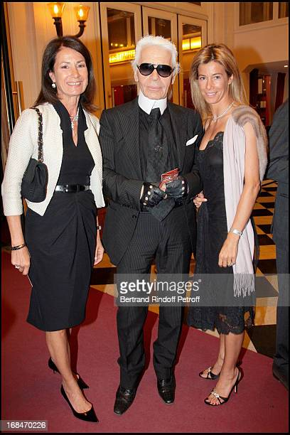 Madame Thierry Breton Karl Lagerfeld Madame Brice Hortefeu at Etoiles Classical Concert At Salle Gaveau The Piano Played By Brigitte Engerer And...