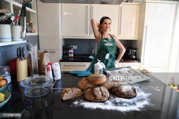Madame Tussauds Berlin wax figure of US singer Katy Perry are relocated and rearranged in a domestic quarantine situation to demonstrate the novel...