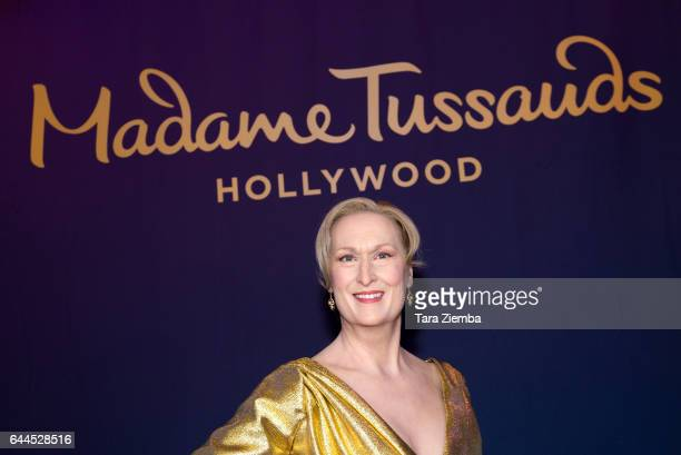 Madame Tussauds Hollywood unveils a revamped wax figure of 2017 Oscar nominee Meryl Streep at TCL Chinese 6 Theatres on February 23 2017 in Hollywood...