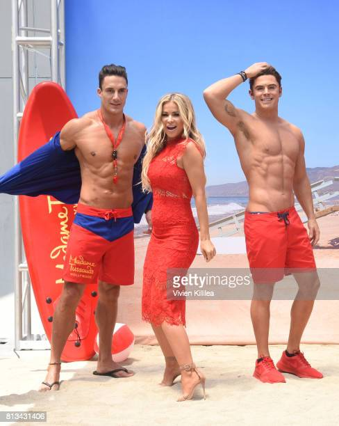 Madame Tussauds Hollywood unveils new Zac Efron Baywatch wax figure with Carmen Electra and the men of Australia's Thunder from Down Under at Madame...