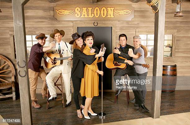 Madame Tussauds Hollywood welcomes country music legends Patsy Cline Johnny Cash and Hank Williams Sr at Madame Tussauds on March 24 2016 in...