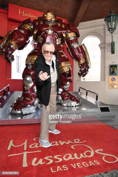 Madame Tussauds Las Vegas and marvel unveils brand new Hulkbuster figure with iconic Marvel mastermind Stan Lee on February 28 2017 in Las Vegas...