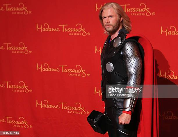 Madame Tussauds Las Vegas celebrates their Marvel Month of May by unveiling a wax figure of Thor as portrayed by actor Chris Hemsworth at Madame...